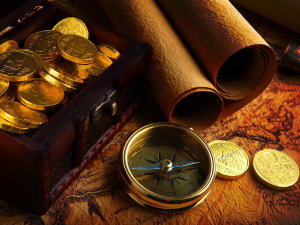 Treasure map to Gold Doubloons