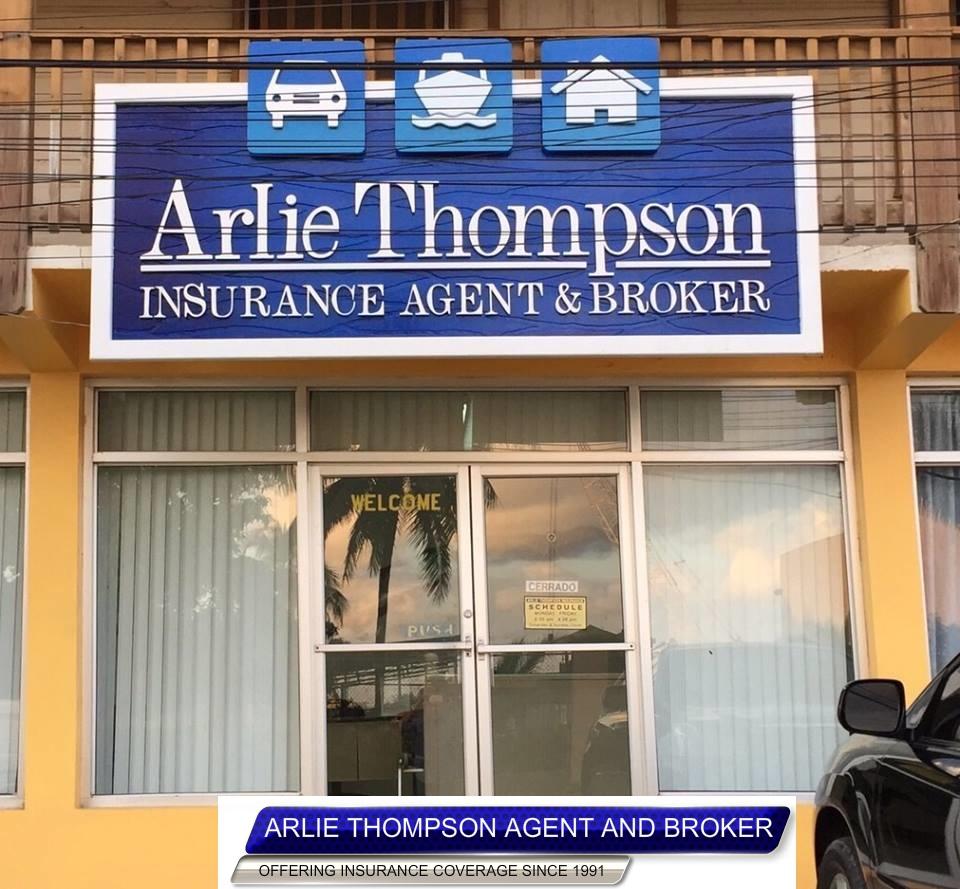 Mr. Arlie Thompson of roatan Honduras owner of Arlie's Insurance