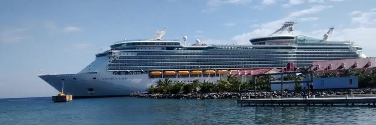 Cruise Ship in port Roatan Honduras