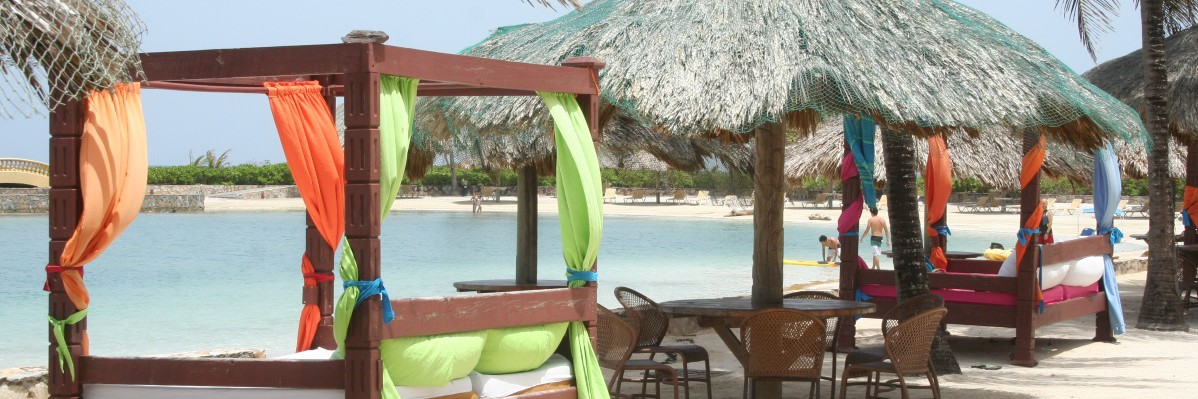 cabanas on the beach