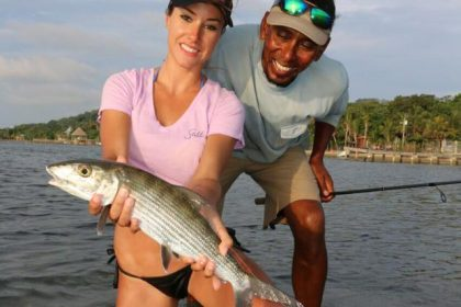 women fly fishing bone fish & tarpon