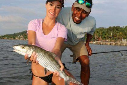 women fly fishing bone fish & tarpon
